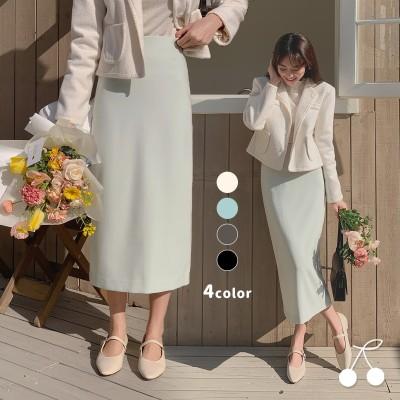 【クーポン適用可能】春スリムHラインスカート CHERRYKOKO公式 ハイクォリティー 韓国ファッション✯送料無料✯