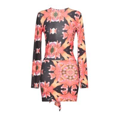 PHILIPP PLEIN ミニワンピース&ドレス コーラル M レーヨン 100% ミニワンピース&ドレス