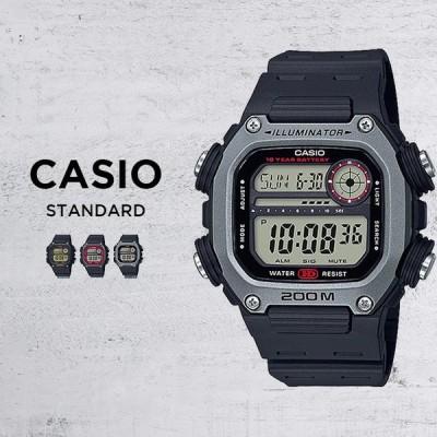10年保証 CASIO カシオ スポーツ 腕時計 時計 ブランド メンズ キッズ 子供 男の子 チープカシオ チプカシ デジタル 日付 カレンダー 防水 ブラック 黒 レッド