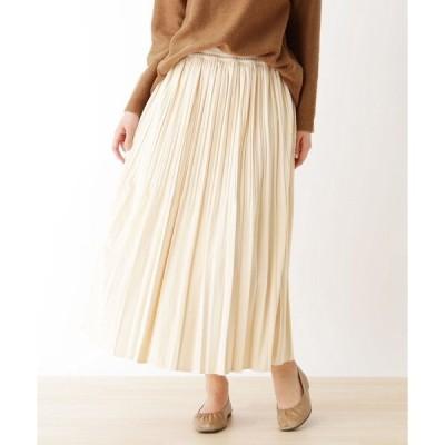 スカート ベロアプリーツスカート