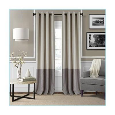 """新品Elrene Home Fashions 26865874723 Braiden Room Darkening Grommet Window Curtain Drape Panel, 52"""" x 95"""", Linen, 1"""