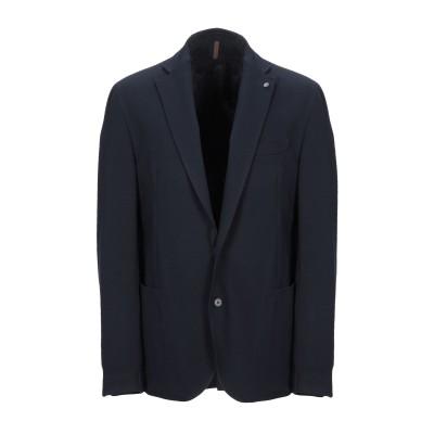 LABORATORI ITALIANI テーラードジャケット ダークブルー 44 レーヨン 65% / ナイロン 30% / ポリウレタン 5% テ