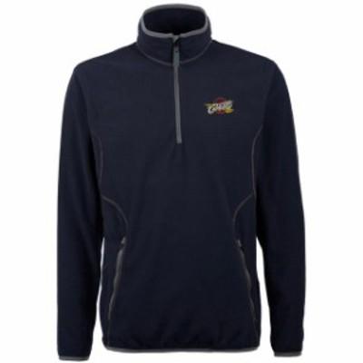 Antigua アンティグア スポーツ用品  Antigua Cleveland Cavaliers Navy Blue Ice 1/4 Zip Lightweight Pullover Jacket