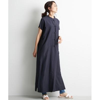 大きいサイズ チャイナボタンフレンチスリーブワンピース シックスタイル ,スマイルランド, ワンピース, plus size dress