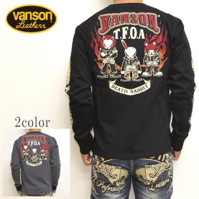 バンソン VANSON×クローズ WORST CRV-2029 天竺 長袖Tシャツ ロンT T.F.O.A 武装戦線 バイク バイカー トップス メンズ