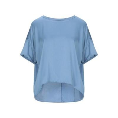 HOPE ブラウス ファッション  レディースファッション  トップス  シャツ、ブラウス  長袖 パステルブルー