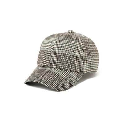 帽子 キャップ B:MING by BEAMS / チェック柄 ローキャップ