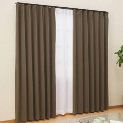 カーテンチアフル カーテン4枚セット 商品名:ガード/色:SBR(1級遮光カーテン:幅100cm×丈178cm ×2枚+ミラーレース幅100cm×丈1