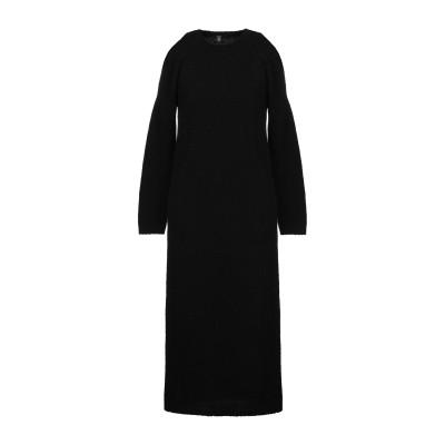 イレブンティ ELEVENTY 7分丈ワンピース・ドレス ブラック S ウール 80% / ナイロン 20% 7分丈ワンピース・ドレス