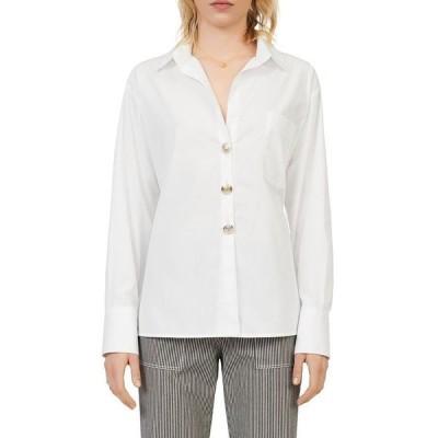 マージュ レディース シャツ トップス Cotas Cotton Button Down Shirt