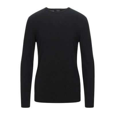 LIU •JO MAN プルオーバー ブラック XL ウール 30% / レーヨン 30% / ナイロン 30% / カシミヤ 10% プルオーバー