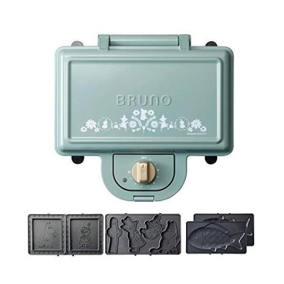 ブルーノ BRUNO ホットサンドメーカー ムーミン 耳まで焼ける 電気 おさかなプレート たい焼き セット ダブル ブルーグリーン BOE051-B