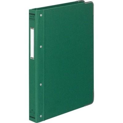 コクヨ バインダーMP B5縦 総布貼・角金付100枚収容緑 ハー110G