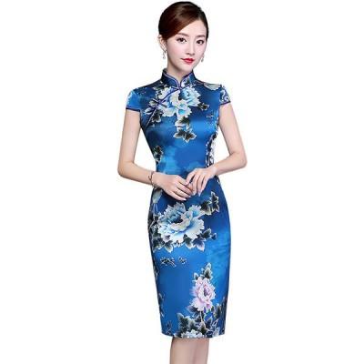 花嫁ドレスパーティードレスブライダルチャイナドレスロング二次会ドレスロングドレスイブニングドレスキャバ嬢ドレスカラードレスファスナー中国風刺繍