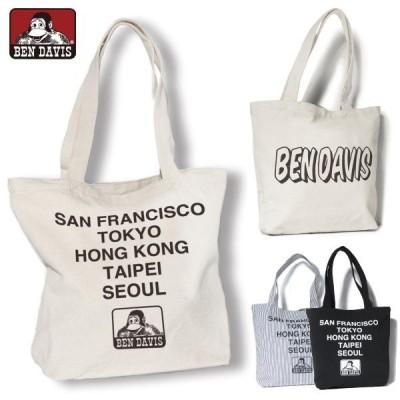 トートバッグ BEN DAVIS ベンデイビス カバン BDW-9101B コットントートバッグ キャンバス バック かばん 鞄 ネコポス メール便送料無料 人気