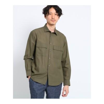 【Sサイズ~】Herdmans Linen ダブルポケットシャツ