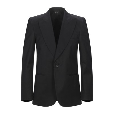 ヌメロ ヴェントゥーノ N°21 テーラードジャケット ブラック 48 ポリエステル 65% / コットン 35% テーラードジャケット