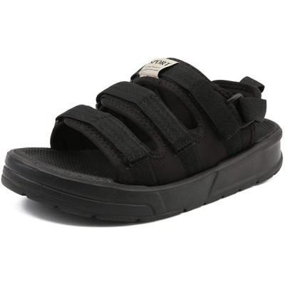 [Vocnako] サンダル メンズ カッコイイ メンズ用 厚底 歩きやすい ファッション ウォーキングシューズ 黒 25.5cm