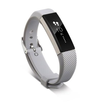 11色 シリコンウォッチバンド Fitbitアルタ HRスマートリストバンドウォッチ 交換 リストバンド シリコ ライトグレー
