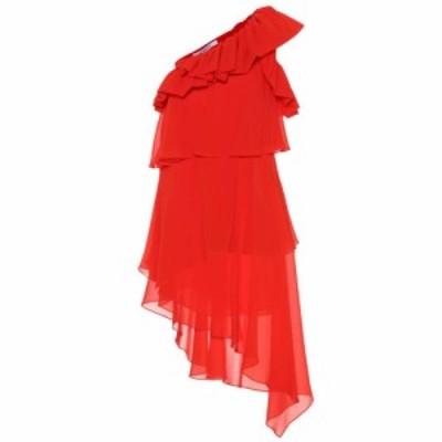 ジバンシー Givenchy レディース ワンピース ワンショルダー ワンピース・ドレス Silk one-shoulder dress Bright Red