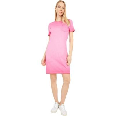 カルバンクライン Calvin Klein レディース ワンピース ポケット Tシャツワンピース シャツワンピース T-Shirt Dress with Front Pocket Lipstick