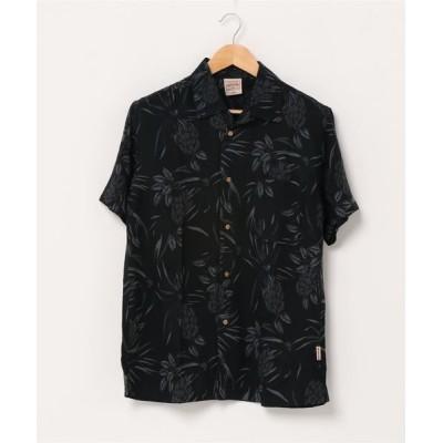 シャツ ブラウス レーヨンアロハシャツ リラクシングシルエット ユニセックスサイジング オープンカラー 開襟シャツ