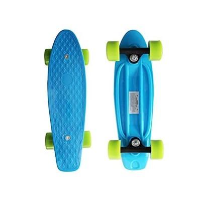 【送料無料】SK8MEMO 17X5inch Blue Kids Skateboard, Mini Skateboard for Beginner with Hi