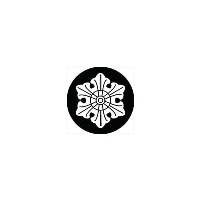 家紋シール 六葉紋 直径4cm 丸型 白紋 4枚セット KS44M-3104W