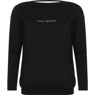アルマーニ EMPORIO ARMANI UNDERWEAR レディース スウェット・トレーナー トップス Lounge Sweatshirt Nero