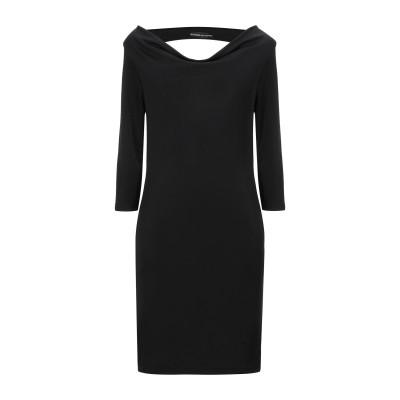 BOUTIQUE de la FEMME ミニワンピース&ドレス ブラック L ポリエステル 95% / ポリウレタン 5% ミニワンピース&ドレス
