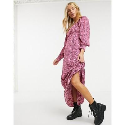 ヴェロモーダ レディース ワンピース トップス Vero Moda maxi dress with ruched bust in pink polkadot print