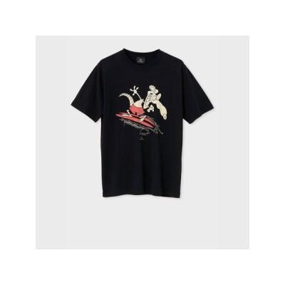 ポールスミス Tシャツ Surfing mouse プリント ブラック XL Paul Smith