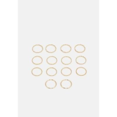 ピーシーズ リング レディース アクセサリー PCJENSINE 14 PACK - Ring - gold-colored