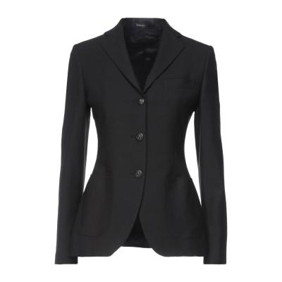 TAGLIATORE 02-05 テーラードジャケット ブラック 40 ポリエステル 53% / バージンウール 44% / ポリウレタン 3% テ