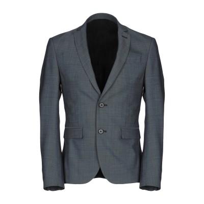 マニュエル リッツ MANUEL RITZ テーラードジャケット ブルーグレー 46 バージンウール 100% テーラードジャケット