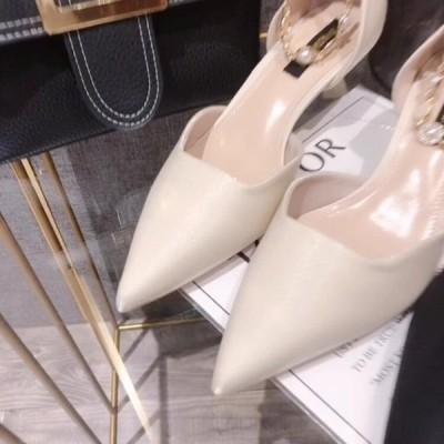 サンダル シューズ 靴 レディース 安い 可愛い 綺麗め お洒落 大人 ハイヒール OL 通勤 オフィス お出かけ お呼ばれ パール ストラップ