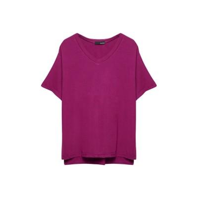 リエディ Re:EDIT 極とろみVネックTシャツ (ショッキングピンク)