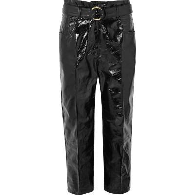 PETAR PETROV パンツ ブラック 34 羊革(シープスキン) 100% パンツ