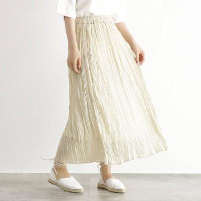 OZOC(オゾック)/[洗える]シアーワッシャープリーツスカート