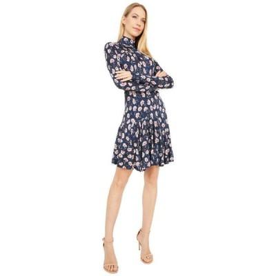 レベッカテイラー レディース ワンピース トップス Long Sleeve Thistle Fleur Turtleneck Dress