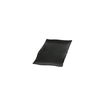 CARLISLE/カーライルフードサービスプロダクツ  テラテクスチャード レクタングルプラター/S ブラック 3559