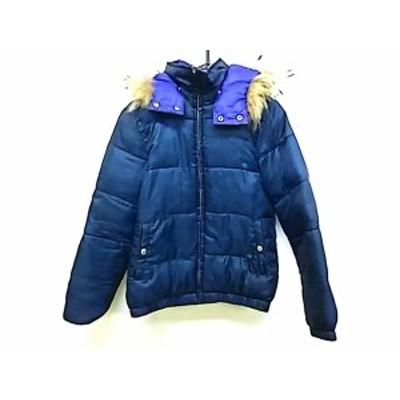 エックスガール X-GIRL ダウンジャケット サイズ2 S レディース ダークグリーン×パープル 冬物【中古】