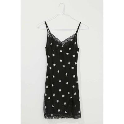 モーテル Motel レディース ボディコンドレス ワンピース・ドレス daisy lace trim bodycon dress Black