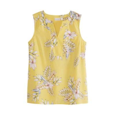 キム ロジャース レディース タンクトップ トップス Women's Sleeveless Liano Palm Print Top