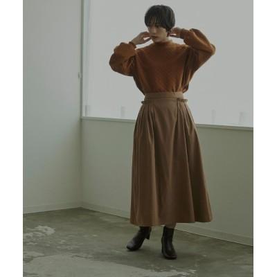 (miette/ミエット)タックポケットロングスカート/レディース ブラウン