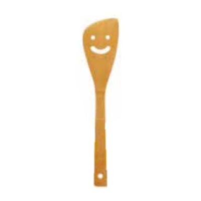 炭化竹スマイルキッチン スマイルターナー 大 斜型 フライ返し 竹製 木製 15071 小柳産業 H