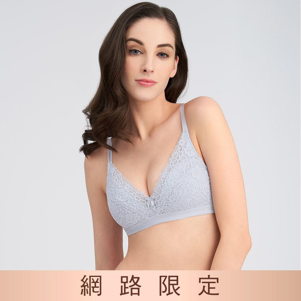 黛安芬-美型嚴選系列 無鋼圈 B-E罩杯內衣 神秘灰 11-1613 8X