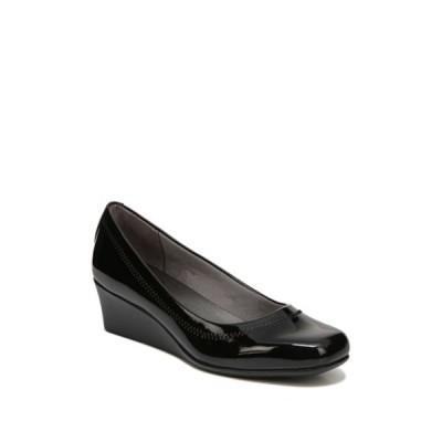 ライフストライド レディース パンプス シューズ Groovy Polished Wedge Heel Pump - Wide Width Available BLACK