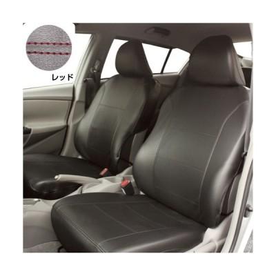 錦産業 TO-02 普通車用フリーサイズ前席用1枚セット ブラック&レッドステッチ