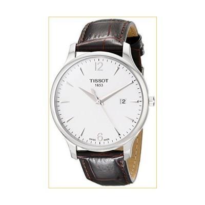 ティソ 腕時計  Tissot Men's T063.610.16.037.00 Tradition Silver-Tone Stainless Steel Watch 並行輸入品